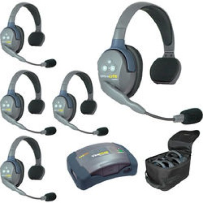 Eartec UltraLite System w/ Single Headsets (5-User) HUB 5S