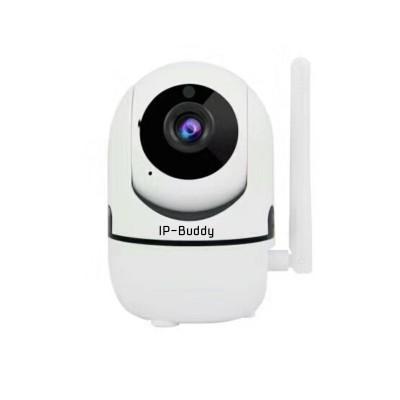 Caméra IP-Buddy avec suivi de mouvement, Wi-Fi, Carte Micro SD, Infrarouge, 2 MP, 1080P, Rotation 355°, Intérieur